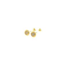 Orage plaqué gouden oorbellen met cubic zirconia
