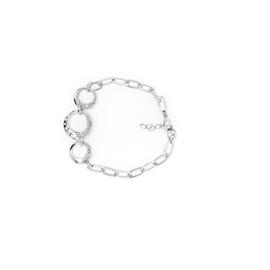 Zilveren armband met drie cirkels