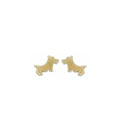 gouden oorbellen westie