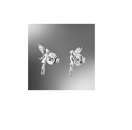 Lotus Silver zilveren oorbellen elfjes met cubic zirconia
