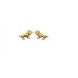 gouden oorbellen teckel