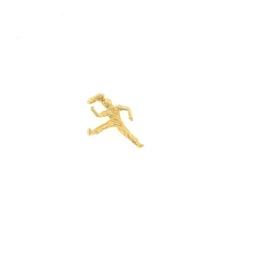 Plaqué gouden hanger karate