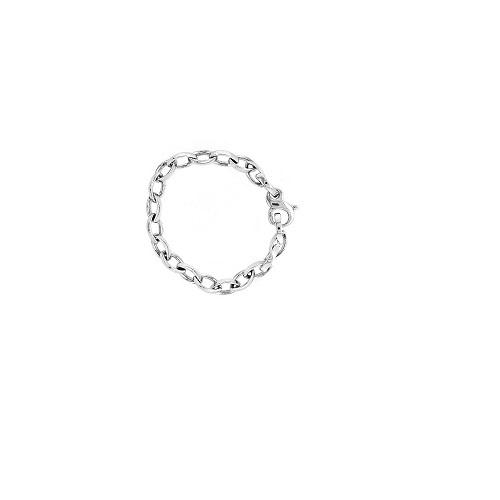 Zilveren armband in een zware forçatschakel