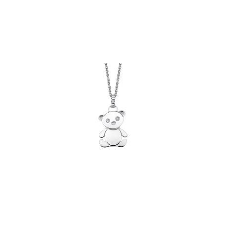 Lotus Silver zilveren ketting met hanger beertje