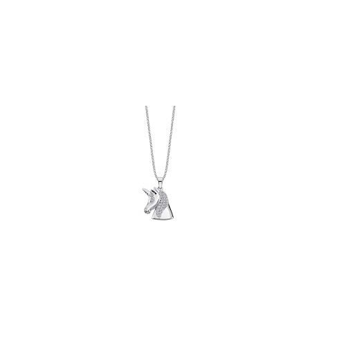 Lotus Silver zilveren ketting met hanger eenhoornkop