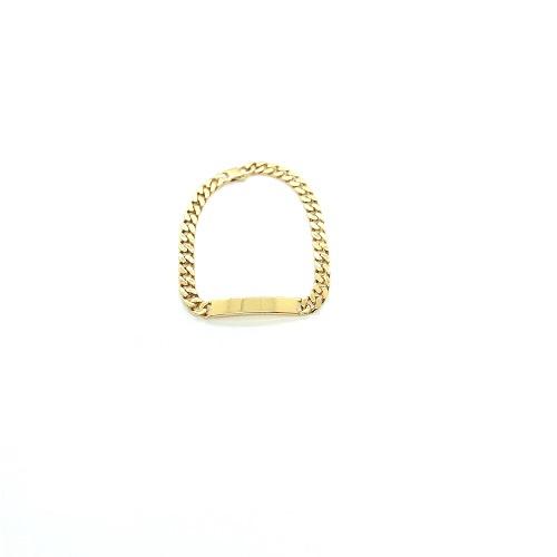 Armband in plaqué goud met naamplaat