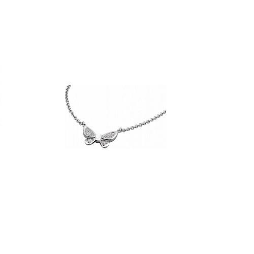 Lotus Style ketting met vlinder hanger, edelstaal
