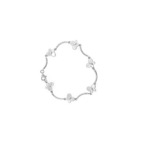 Orage Teenz zilveren armbandje met vlindertjes