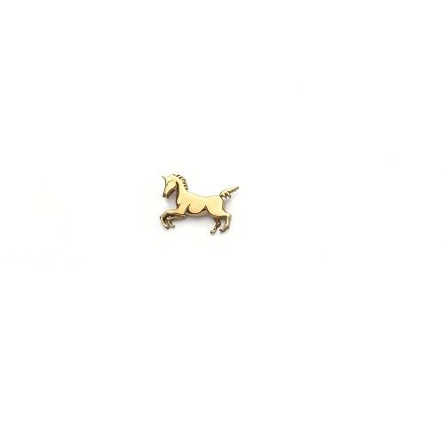 Handgemaakte hanger 'eenhoorn' in geel goud