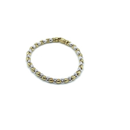 Armband in bicolor goud