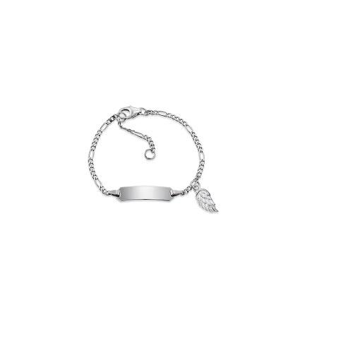 Herzengel zilveren armbandje met plaatje