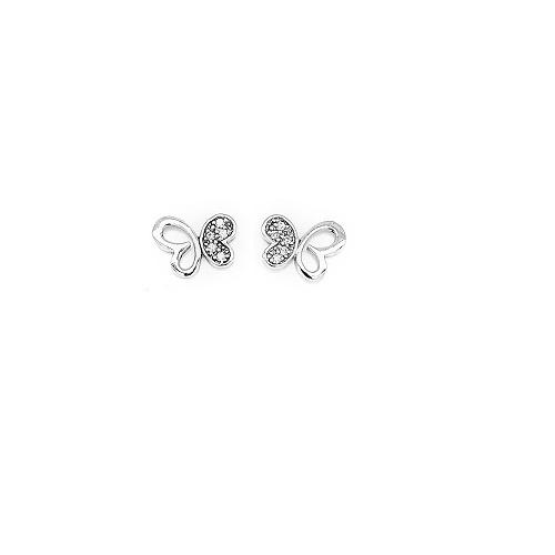 Orage Kids zilveren oorbelletjes vlindertjes