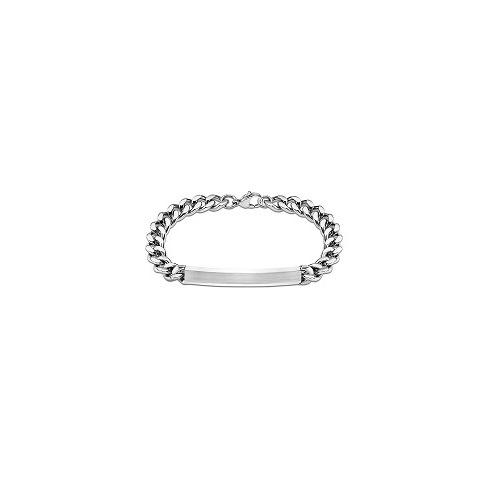 Armband met naamplaat in edelstaal