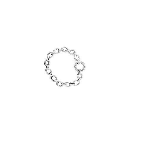 Zinzi zilveren armband in een zware wisselschakel