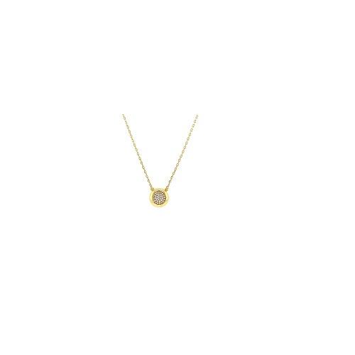 Orage plaqué gouden ketting met hanger met cubic zirconia