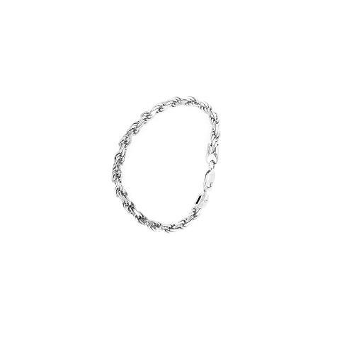Zilveren armband in een koordketting schakel