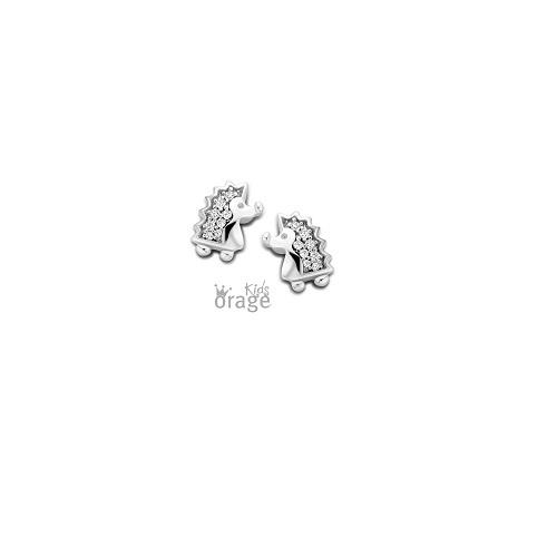 Orage Kids zilveren oorbelletjes egeltje