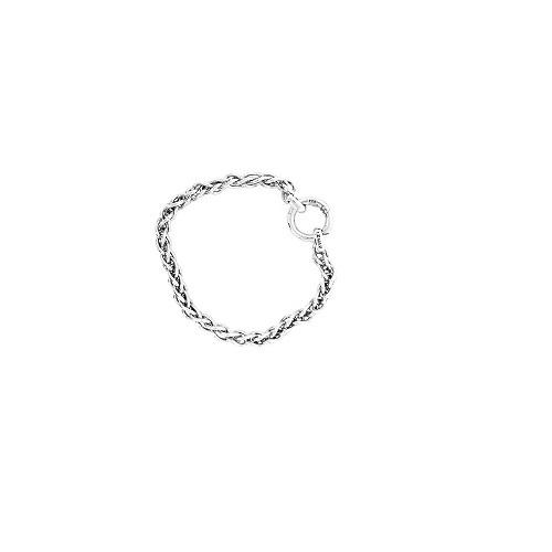 Zinzi zilveren armband in een vossenstaart schakel