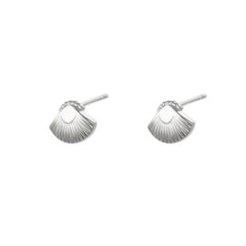 Oorbellen | Knopje Schelp - Zilver
