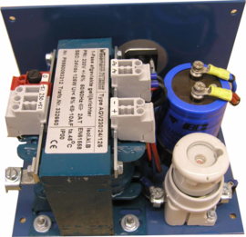 250W conventional rectifier 400V +/-5%/24VDC on folded mounting plate