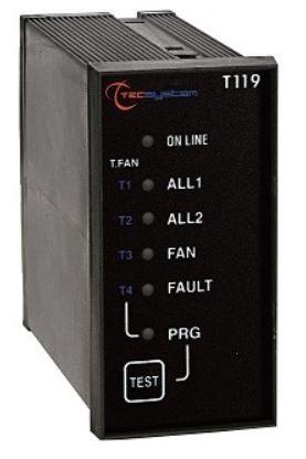 TEC T119 Temperatuur bewaking relais tbv PTC elementen