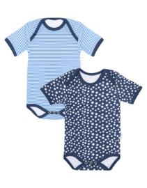 Claesens Baby  Boys 2 Pack Star Stripes romper