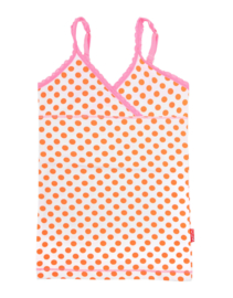 Claesens Girls 2 Pack Singlet Orange Dots