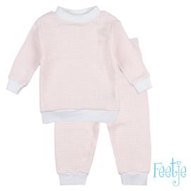 Feetje Pyjama wafel Zalm (56-86)