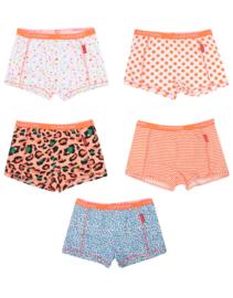 Claesens Girls 5 Pack Boxer Orange