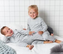 Feetje Pyjama wafel Grijs Melange 92-116