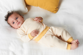 Feetje Pyjama wafel Okergeel (56-86)
