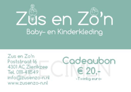 Kadobon 20 euro