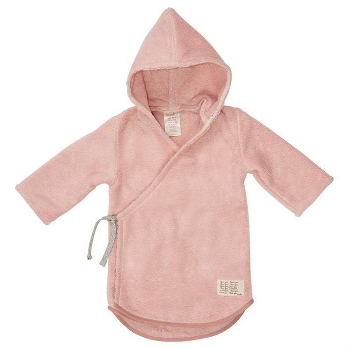 Koeka Baby badjas Dijon organic Shadow Pink
