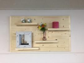 Wandbord nieuw steigerhout