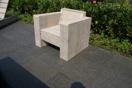 Lounge stoel steigerhout