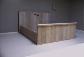 2-persoonsbed steigerhout