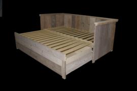 Bedbank van steigerhout, uitschuifbaar naar 2persoons