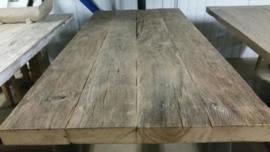 Tafelblad Rustiek eiken geborsteld 7cm dik