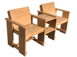 Doe-Het-Zelf bouwpakket tweezitter met tafeltje Douglas