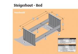 Bed steigerhout Basic 90x200
