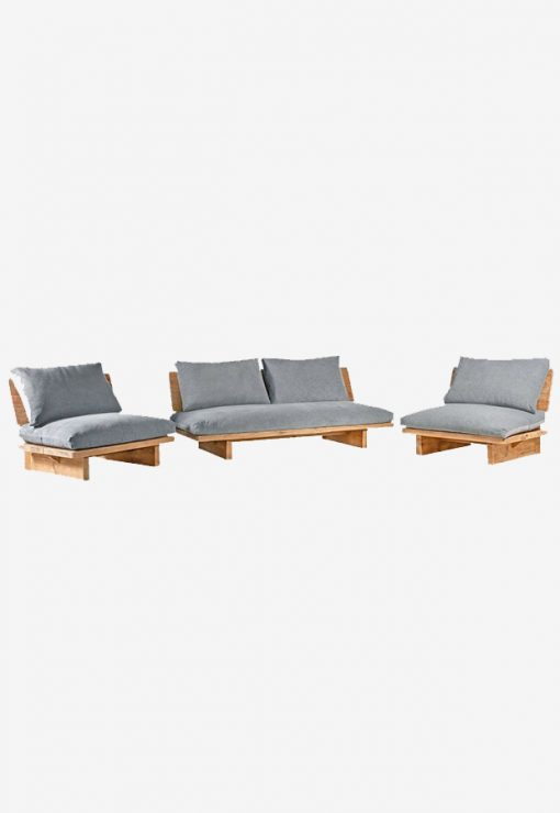 Lounge stoel 1p 95x88x75 Reclaimed wood incl kussens