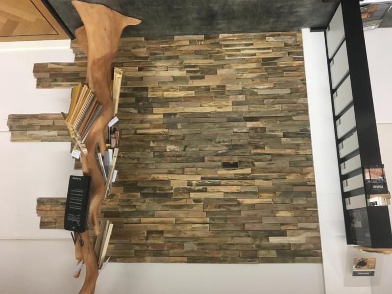 Teakhouten 3D houtstrips 40mm