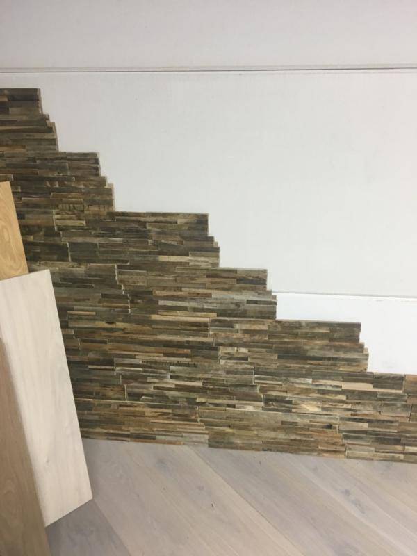 Teakhouten 3D houtstrips 20mm