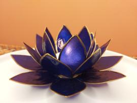 Lotusbloem theelichthouder indigo XL