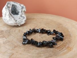 Sneeuwvlok obsidiaan splitarmband