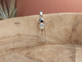 Bergkristal hanger met onyx