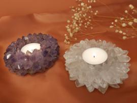 amethist en bergkristal duo