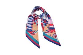Sjaaltje | lang & smal | zijden | 160*16CM | multi print