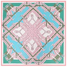 Emilie Scarves Sjaal Zijden blend 130*130CM Pastel - Riemen - Giftbox