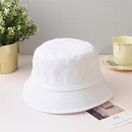 Vissershoed - bucket hat - katoen - wit
